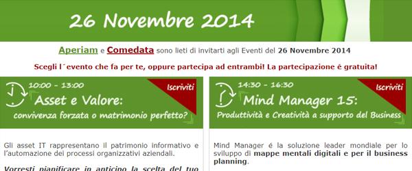 Agenda dell'evento del 26/11/2014