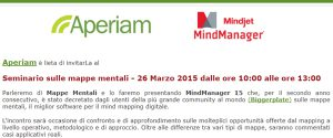 Seminario sulle mappe mentali: 26/03/2015