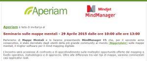 Seminario sulle mappe mentali: 29/04/2015