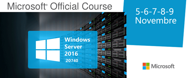 Corso Microsoft Official Windows Server 2016