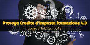 Proroga Credito d'imposta formazione 4.0