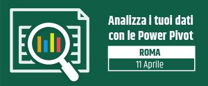 "Evento ""Analizza i tuoi dati con le Power Pivot"""