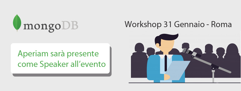 Saremo presenti come Speaker al Workshop MongoDB